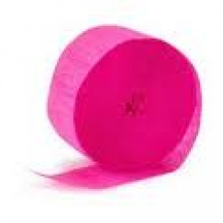 Streamers Coloured Hot Pink (cerise)